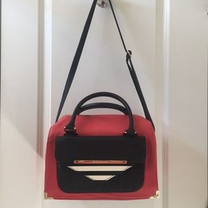 Betsy Johnson Red and Black Purse